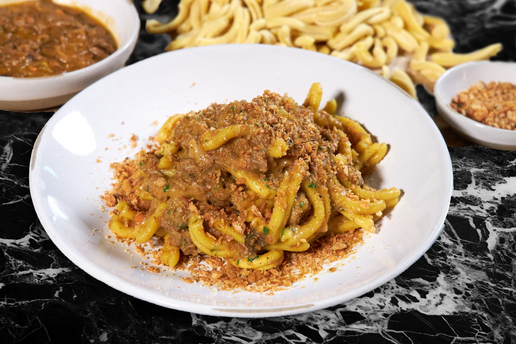 Casarecce with Organic Lamb ragu'