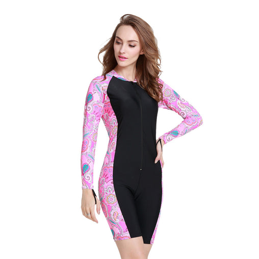 Lycra Long Sleeve Women Swimsuit