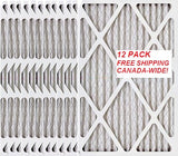 16x25x1 MERV 8 FREE SHIP Standard Capacity Furnace Dust Filter Canada - 12-pack