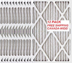 16x25x1 MERV 13 FREE SHIP Standard Capacity Furnace Dust Filter Canada - 12-pack