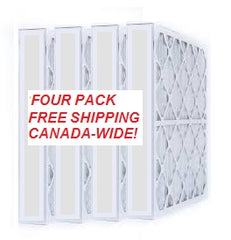 "4"" Pleated Merv 8  16x20x4 FREE SHIP - 4 pack"