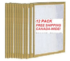 16x25x1 Throwaway Poly FREE SHIP Standard Capacity Furnace Dust Filter Canada - 12-pack