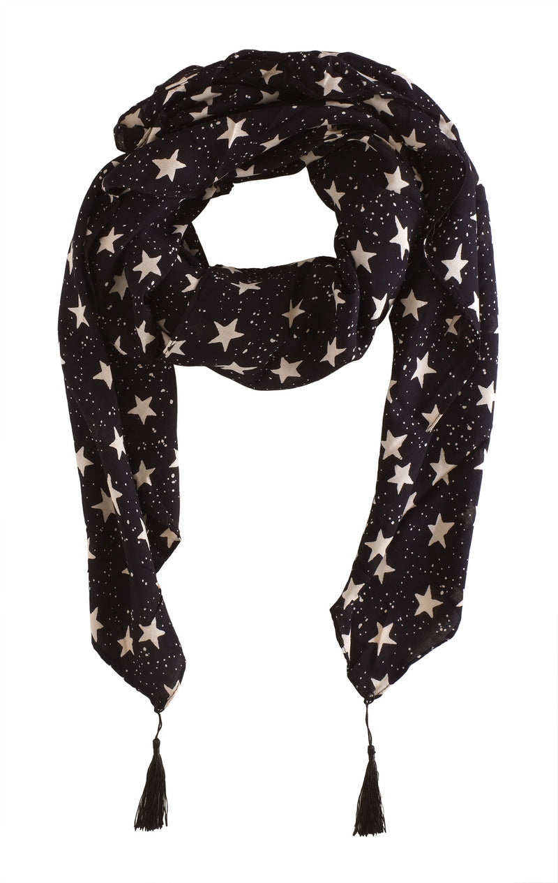 Navy Star Scarf