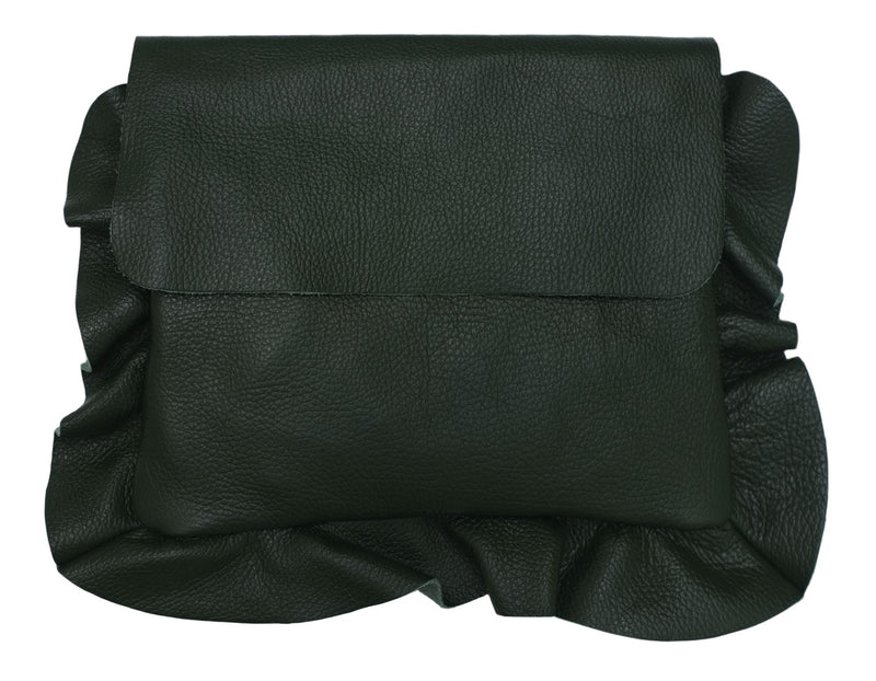 Forest Green Frill Clutch