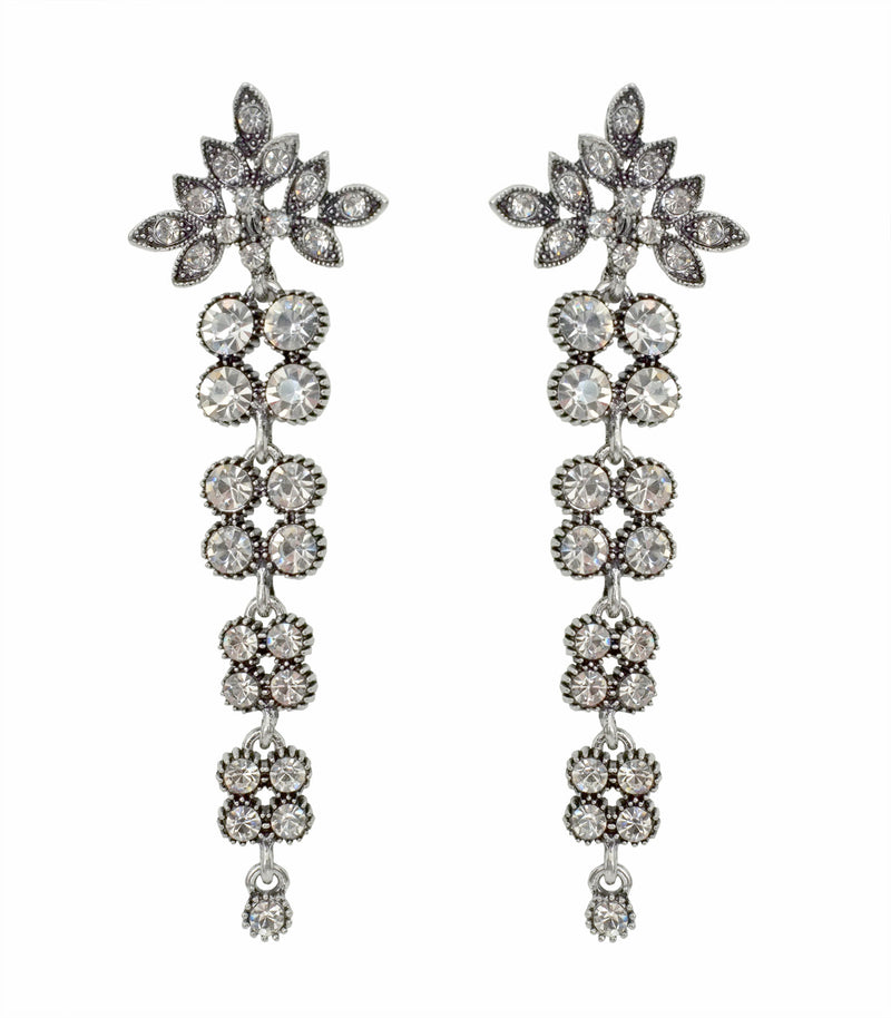 Brilliant Cut Diamanté Drop Earrings