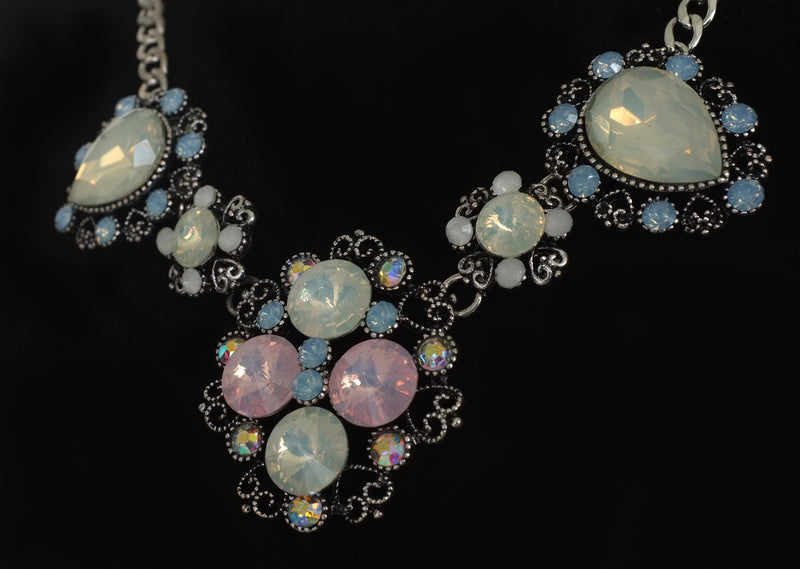 Vintage Style Opal Statement Necklace