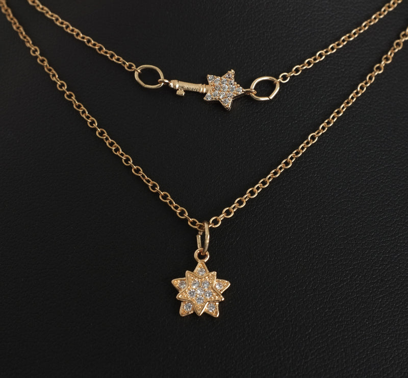 Double Strand Gold Star Necklace