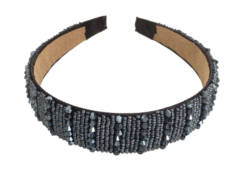 Petrol Blue Beaded Hairband