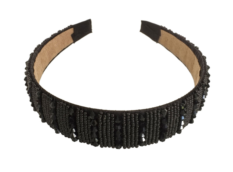 Black Beaded Hairbands