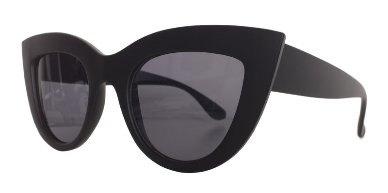 Matte Black Cat Eye Sunglasses