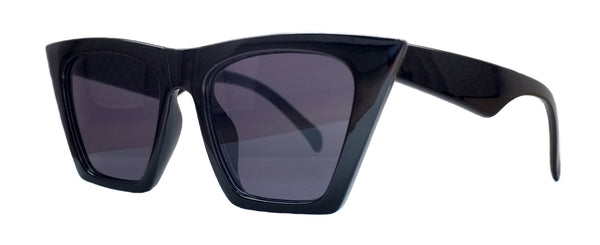 Angular Cat Eye Sunglasses Black