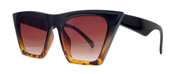 Angular Cat Eye Sunglasses Tortoiseshell