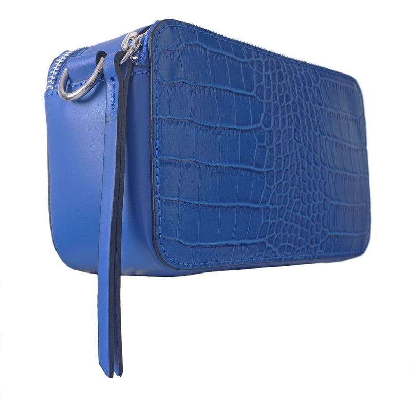 Cobalt Croc Camera Bag