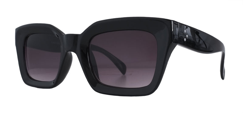 Black Gloss Angular Sunglasses