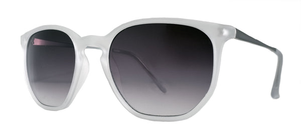 Clear Matte White Sunglasses