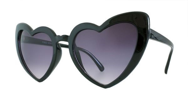 Black Gloss Heart Sunglasses