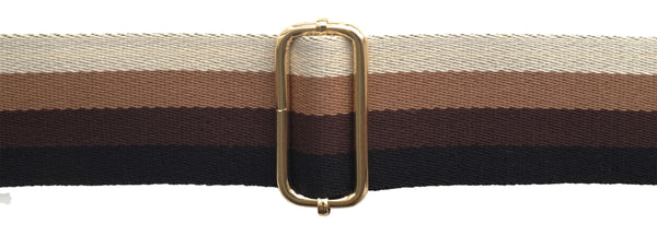 Black, Tan and Cream Stripe Strap