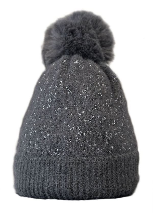 Charcoal Fleece Lined Hat