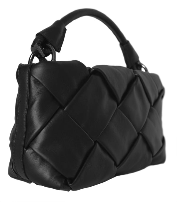 Premium Woven Leather Handbag