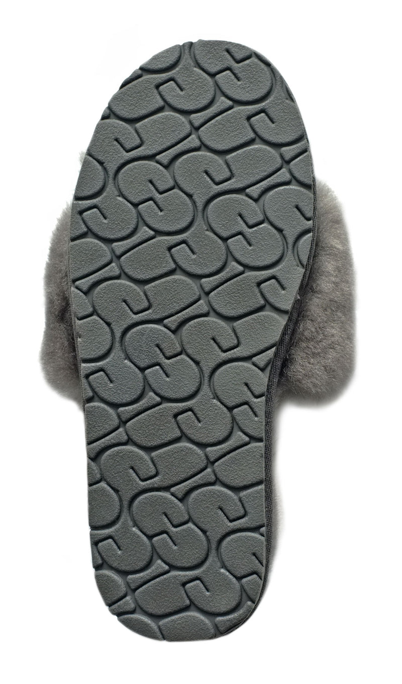 Grey Natural Sheepskin Slippers