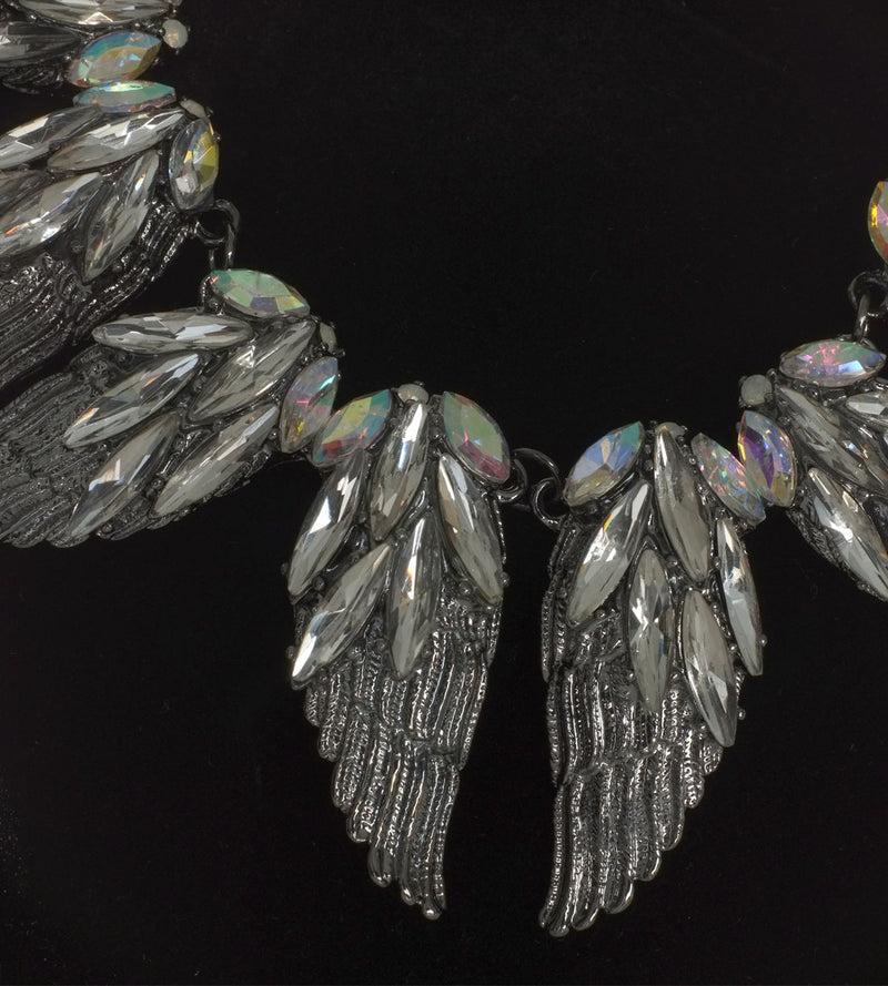 Angel Wings Statement Necklace