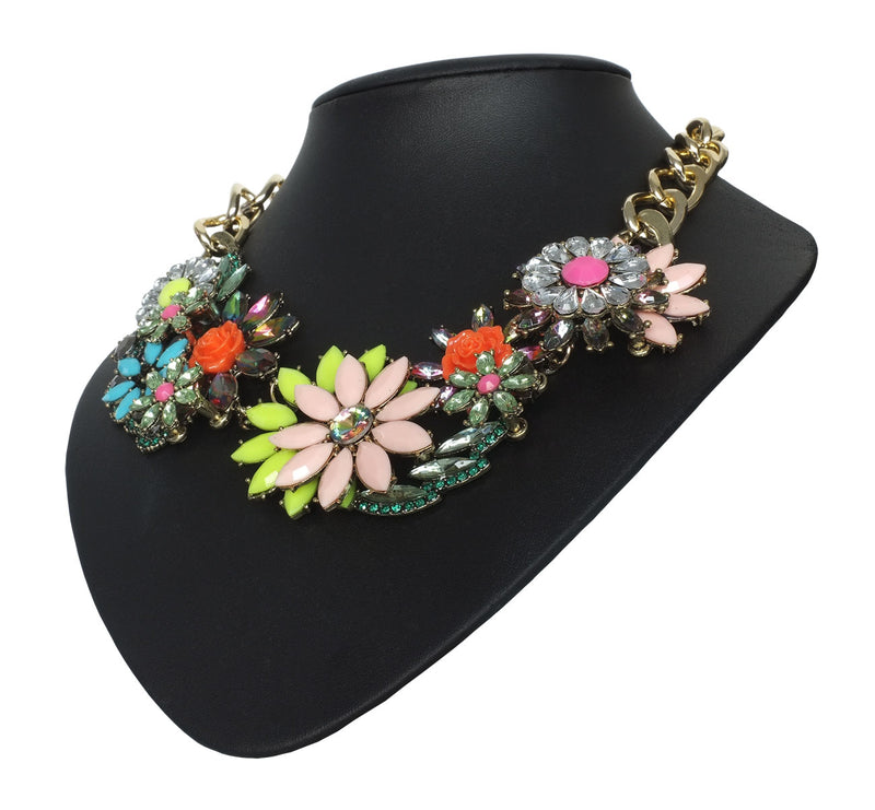 Large Floral Statement Necklace