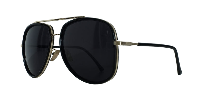 All Black Rimmed Aviators