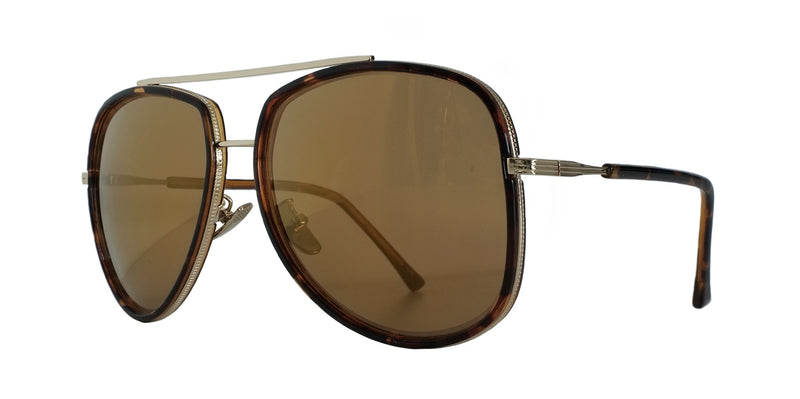Brown and Gold Rimmed Aviators