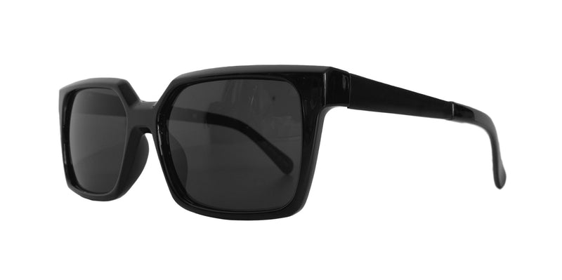 Angular Black Sunglasses