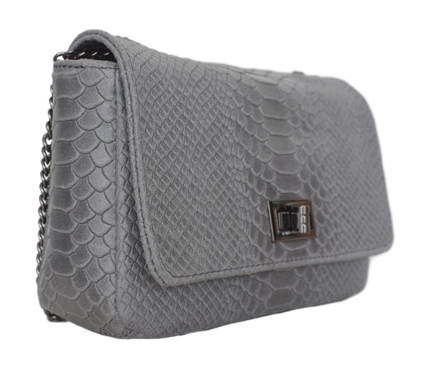 Grey Snakeskin Handbag