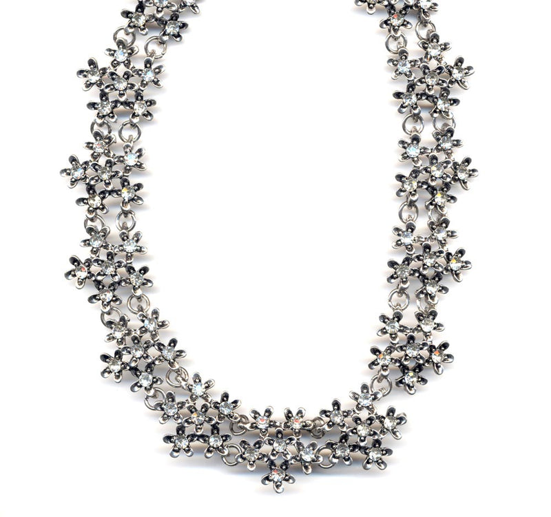 Silver Sparkle Cluster Collar