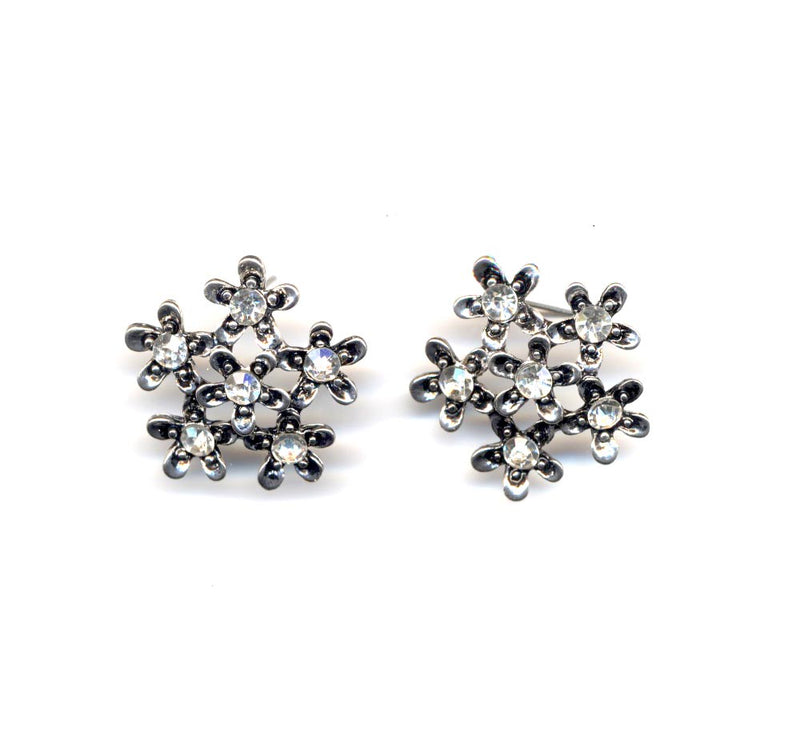 Silver Cluster Sparkle Earrings