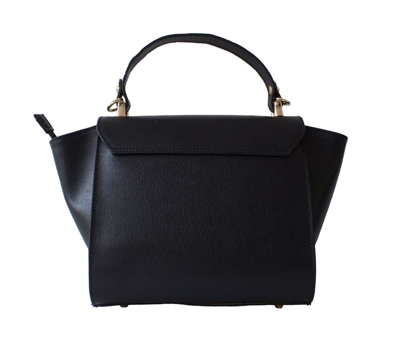 Black Saffiano Leather Mid Size Bag