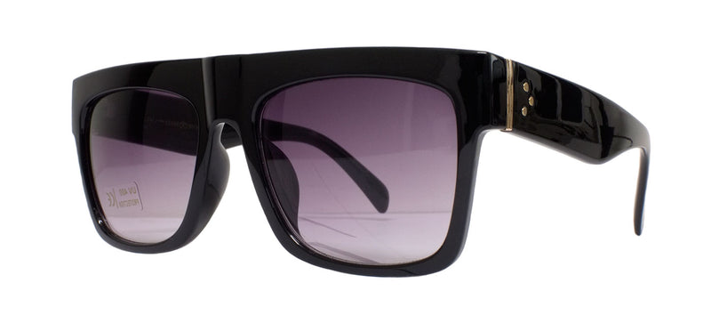 Black Glossy Square Sunglasses