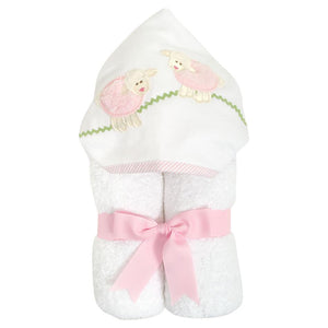 3M Pink Lamb Hooded Towel