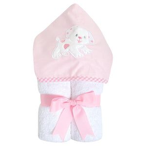 3M Pink Dog Hooded Towel