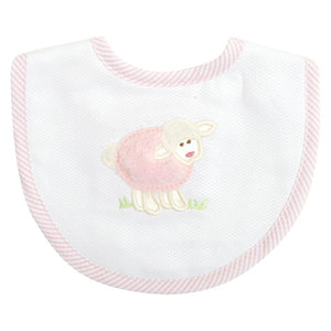 3M Pink Lamb Applique Bib