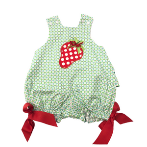 BB Green Bubble with Strawberry Detail and Red Bows