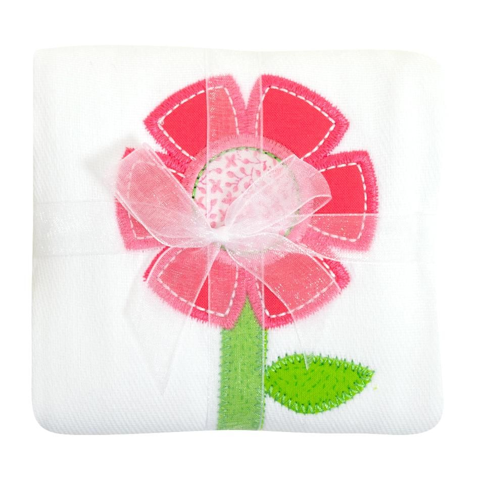 3M Flower Applique Burp Cloth