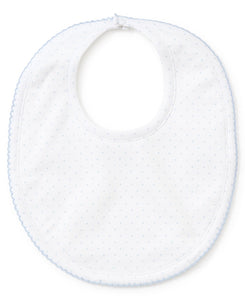 KK White w/ Blue Dots Bib
