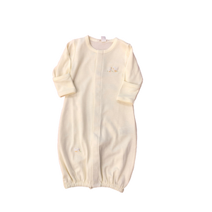 KK Ylw Stripe Duck Embroidered Converter Gown