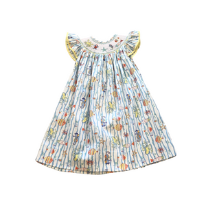 LZM Sea life Smocked Dress