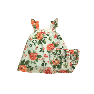 Floral Print Dress with Bloomers