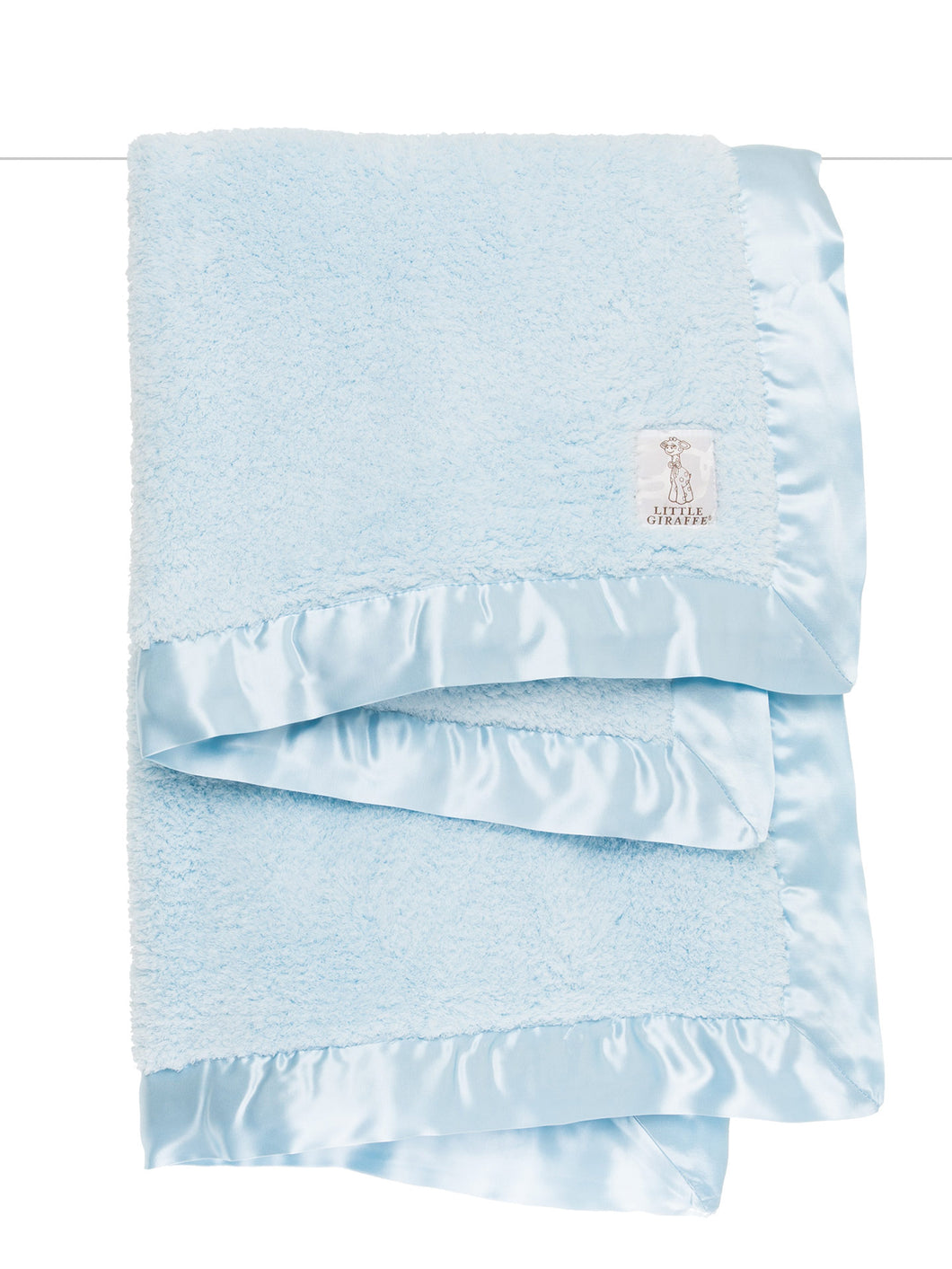LG Blue Double Sided Chenille Blanket