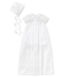 "KK 3 PC Boy White Button Off Gown/Bubble ""Graham"""