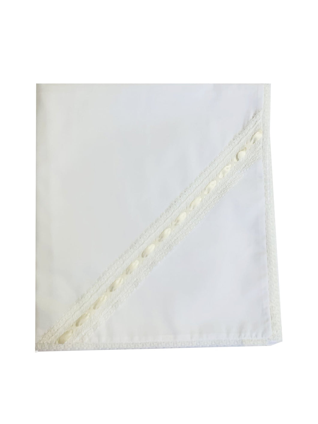 LS Ecru Ribbon Blanket