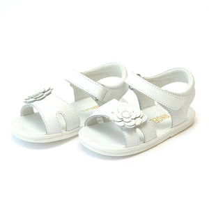 LM Flower Sandal K138 White