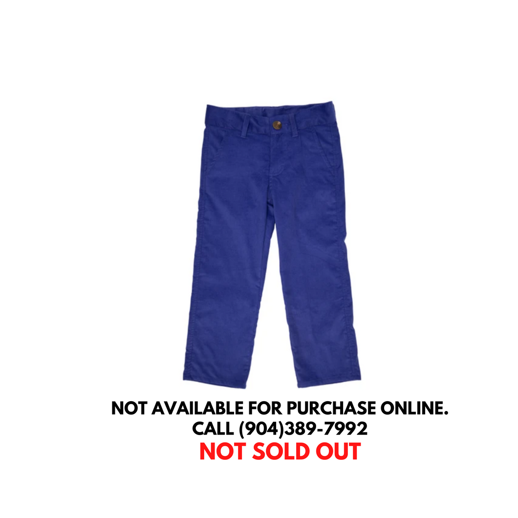 TBBC Prep School Corduroy Pants Del Ray Blue