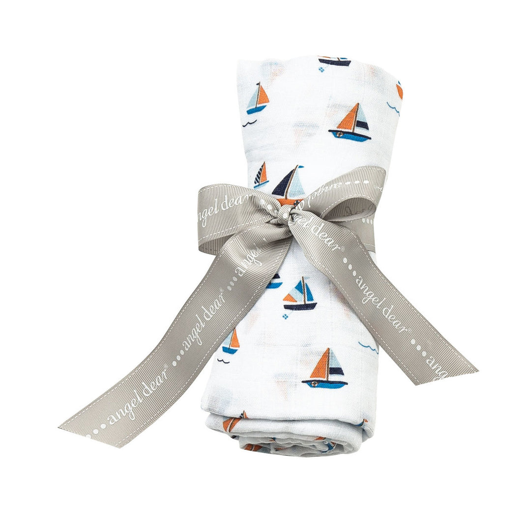 AD Simple Boats Swaddle Blanket