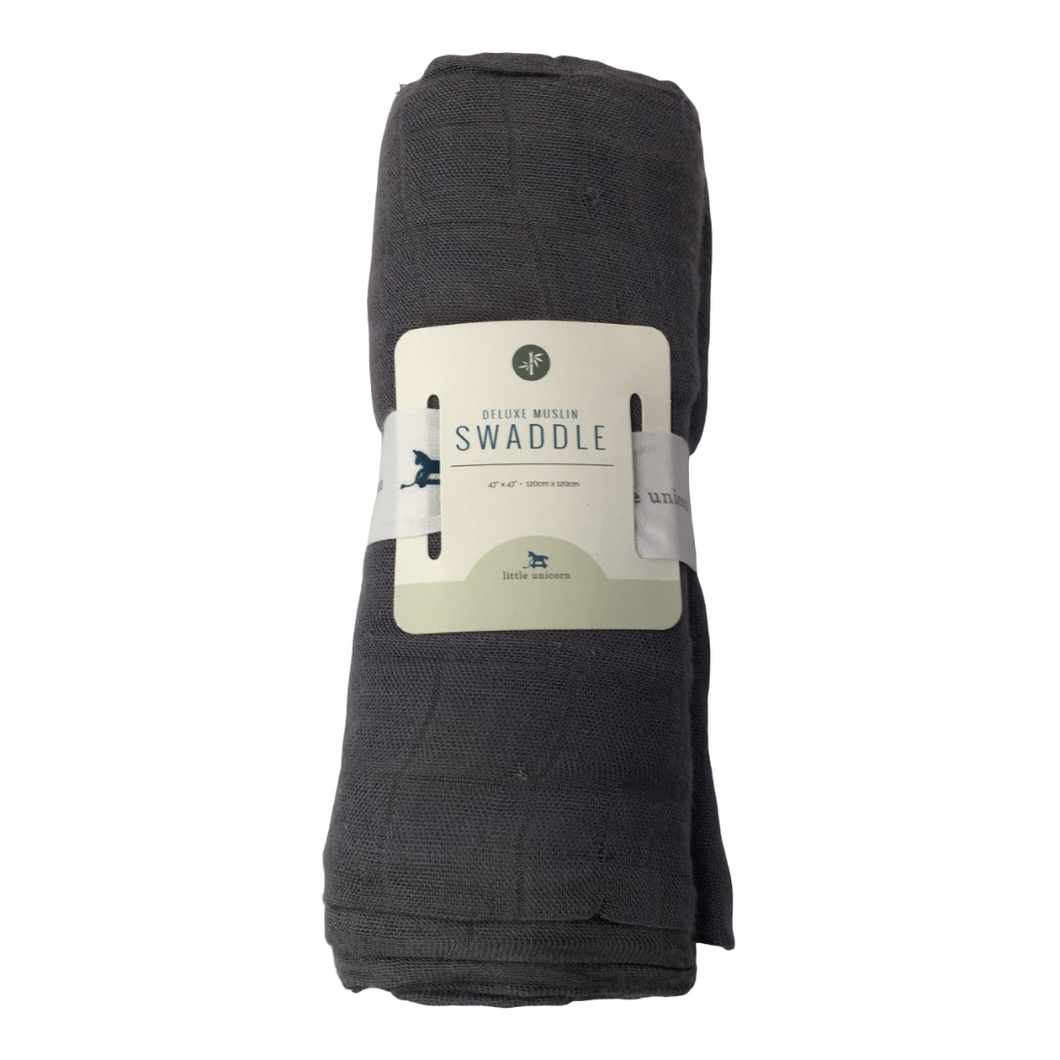 LU Gray Swaddle Blanket